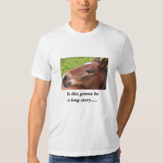 horse picture on t shirt with funny saying