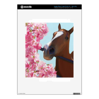 Horse Pink Blossoms iPad 3 Skin