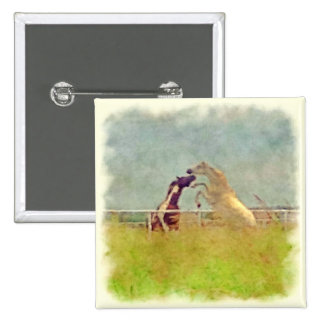 HORSE PLAY 2 2 INCH SQUARE BUTTON