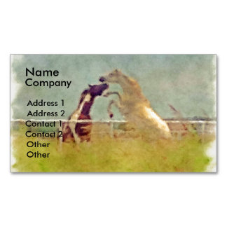 HORSE PLAY 2 BUSINESS CARD MAGNET