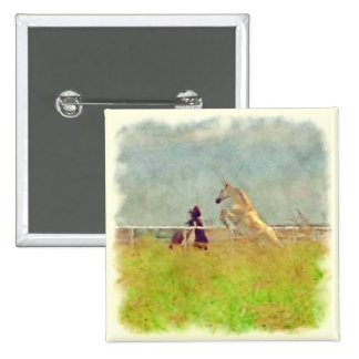HORSE PLAY 2 INCH SQUARE BUTTON