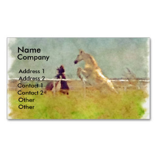 HORSE PLAY BUSINESS CARD MAGNET