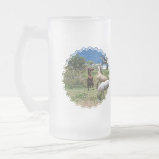 Horse Play Frosted Beer Mug