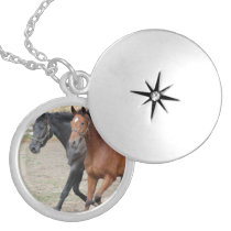 Horse Play Locket Necklace