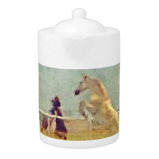 HORSE PLAY TEAPOT