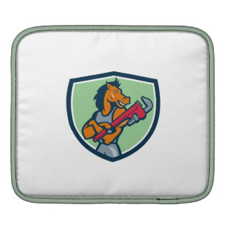 Horse Plumber Monkey Wrench Crest Cartoon Sleeve For iPads