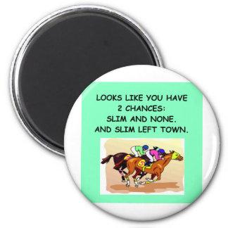 horse.png imán redondo 5 cm