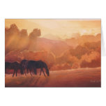 """Horse Point"" Horse Landscape Watercolor Greeting Card"