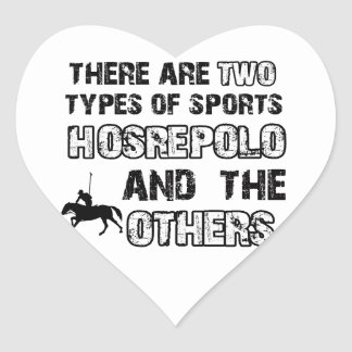 Horse polo designs for lovers of the sport heart sticker