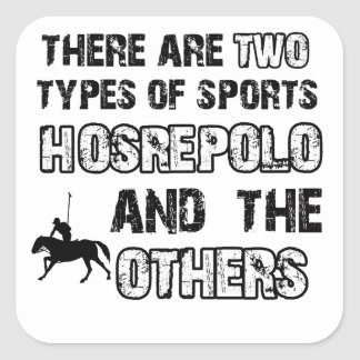 Horse polo designs for lovers of the sport square sticker