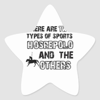 Horse polo designs for lovers of the sport star sticker