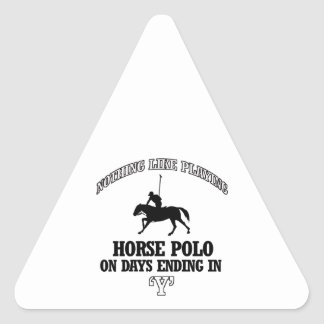 HORSE POLO designs Triangle Sticker