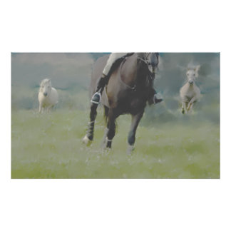 HORSE & PONIES GALLOP POSTER