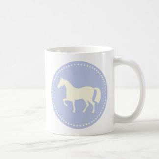 Horse/Pony silhouette coffee or tea mug (blue)