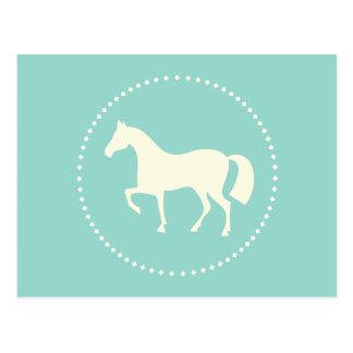 Horse/Pony silhouette postcards (teal)