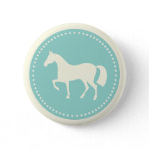 Horse/Pony silhouette round buttons (teal)