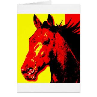 Horse Pop Art Card