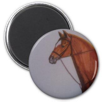 Horse Portrait 2 Inch Round Magnet