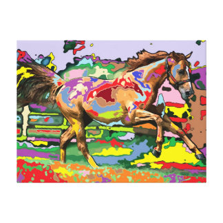 horse Portrait 3 Gallery Wrapped Canvas
