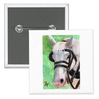 Horse Portrait Button