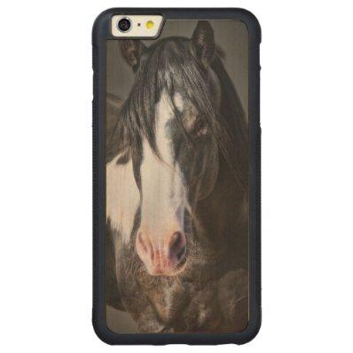 Horse Portrait II Carved® Maple iPhone 6 Plus Bumper