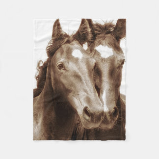 Horse Portrait III Fleece Blanket