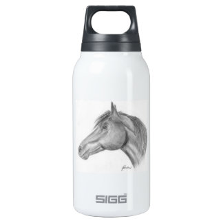 Horse portrait insulated water bottle