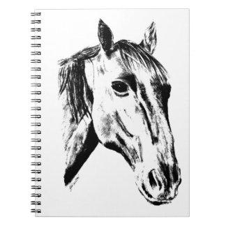 Horse portrait spiral notebooks