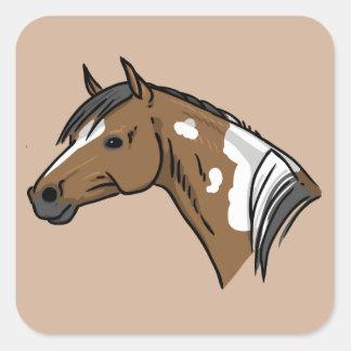 Horse Portrait Square Sticker