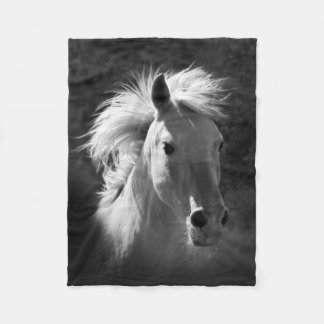 Horse Portrait V Fleece Blanket