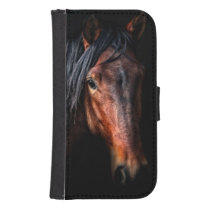 Horse Portrait VII Wallet Phone Case For Samsung Galaxy S4