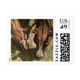 Horse Postage Stamp - Original Art