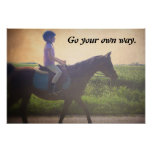 "Horse Poster ""Go Your Own Way"""