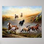 Horse Poster - Painted desert