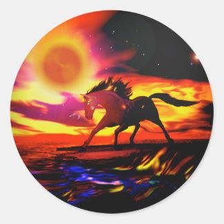 Horse Power Classic Round Sticker