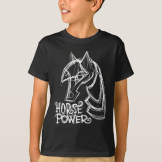 Horse Power Dark Kids T-Shirt