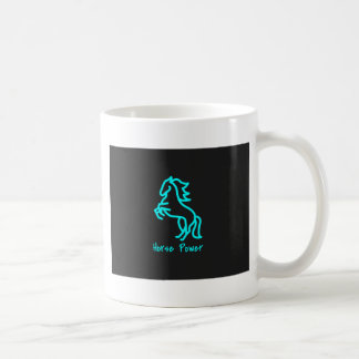 Horse Power in Blue Coffee Mug