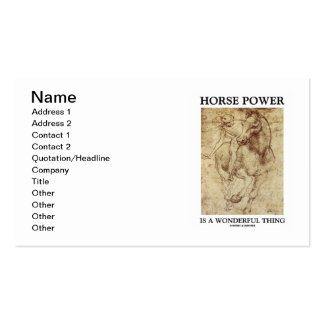 Horse Power Is A Wonderful Thing (da Vinci Horse) Double-Sided Standard Business Cards (Pack Of 100)