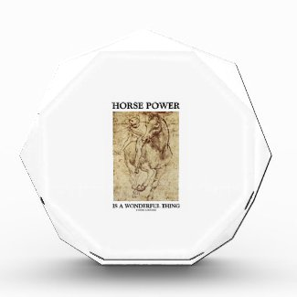Horse Power Is A Wonderful Thing Leonardo da Vinci Award
