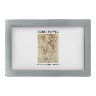 Horse Power Is A Wonderful Thing Leonardo da Vinci Rectangular Belt Buckles