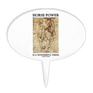 Horse Power Is A Wonderful Thing Leonardo da Vinci Cake Picks