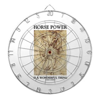 Horse Power Is A Wonderful Thing Leonardo da Vinci Dart Boards