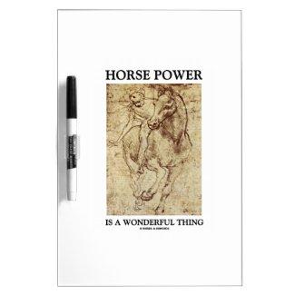Horse Power Is A Wonderful Thing Leonardo da Vinci Dry Erase Whiteboards