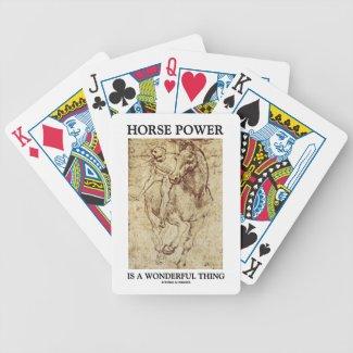 Horse Power Is A Wonderful Thing Leonardo da Vinci Bicycle Poker Deck