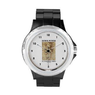 Horse Power Is A Wonderful Thing Leonardo da Vinci Wristwatches