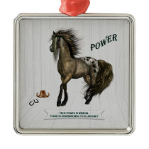 Horse Power Metal Ornament
