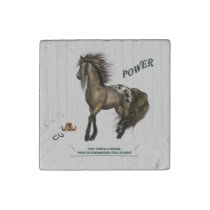 Horse Power Stone Magnet