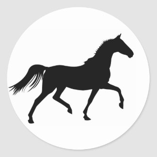 Horse Prancer Classic Round Sticker