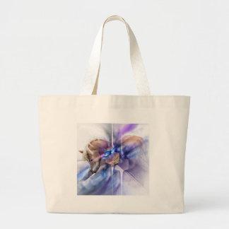 Horse prayer purple christian religious equine large tote bag