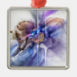 Horse prayer purple christian religious equine metal ornament